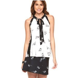 Disney Alice Cheshire Cat tie top Atwood M black